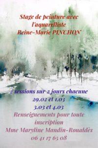 Stage de peinture avec l'aquarelliste Reine-Marie PINCHON